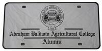 License Plate Alumni Abac Seal Mirrored
