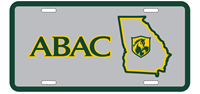 License Plate Metal Abac Left Of State Shield