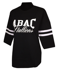 3/4 Sleeve ABAC in White Doulbe Stripe Sleeve