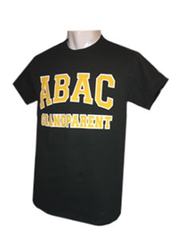 Shirt ABAC Grandparent Gold White Outlined