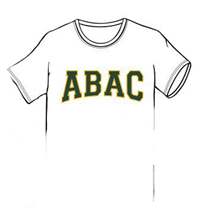 ABAC in Green Outlined Gold Arched