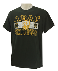 Shirt Abac Stallions With Shield Gold Distressed