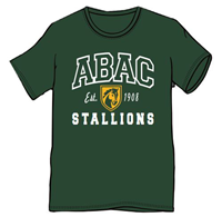 ABAC Outlined White, Stallions White with Gold Shield