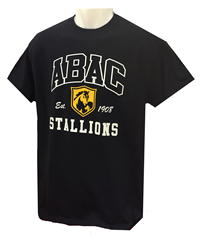 Shirt ABAC Outlined in White with Gold Shield