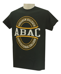 Shirt Abac White School Name Within Oval