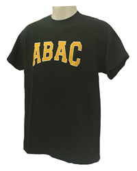 ABAC in Gold Outlined White Arched