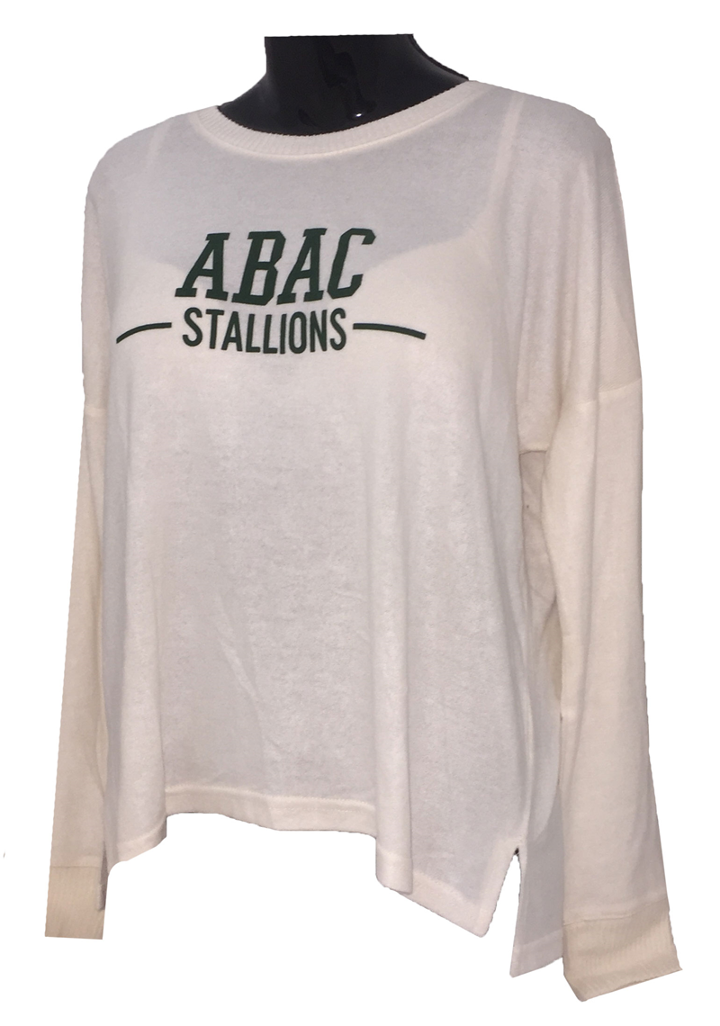 Shirt L/S Cuddle Soft ABAC Stallions Green (SKU 101376591)