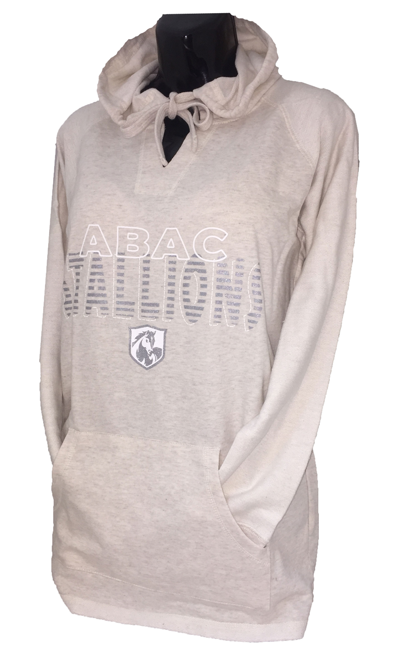 Ladies Long Sleeve with Hood ABAC Stallions Silver (SKU 101254651)