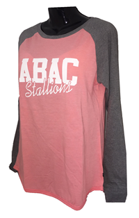 Ladies Shirt with Grey Sleeves ABAC Stallions