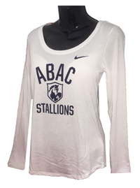 Ladies Shirt L/S ABAC Stallions in Navy