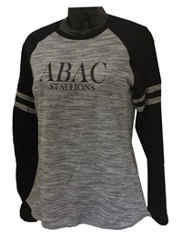 Shirt Ladies L/S Heathered ABAC Stallions