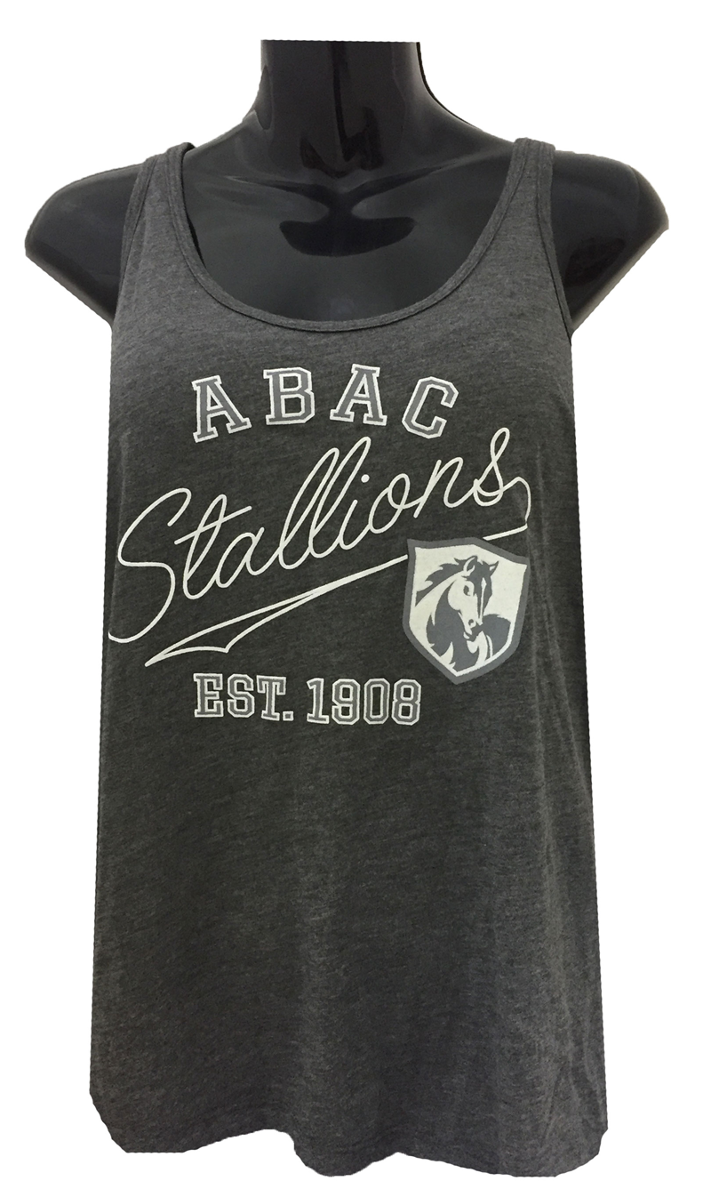 Ladies Tank ABAC Est 1908 and Shield with Stallions Script (SKU 101235081)