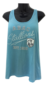 Ladies Tank ABAC Est 1908 and Shield with Stallions Script