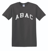 Rolled Tees with ABAC in White Across the Chest