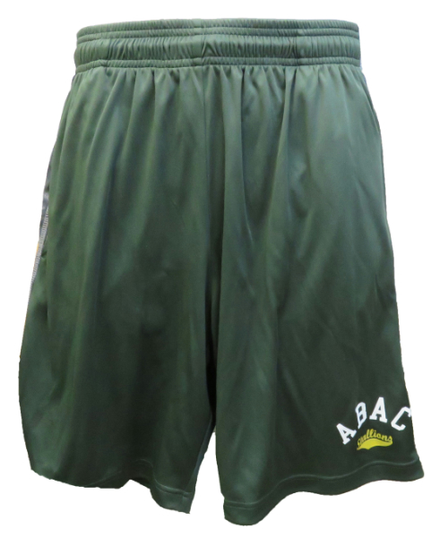 Mens Shorts ABAC White Stallions in Gold Camo Side Panels (SKU 1010312817)