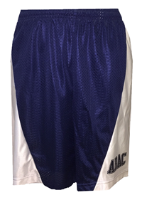 Mens Basketball Shorts with Mesh Front ABAC on Left Leg