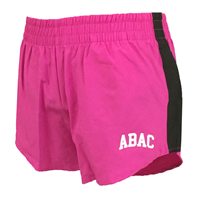 Ladies Shorts with ABAC in White on Left Leg