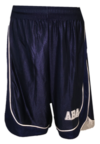 Mens Shorts With Abac In White, Mesh Side Panels